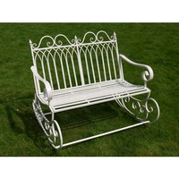 Garden Rocking Bench - Antique White