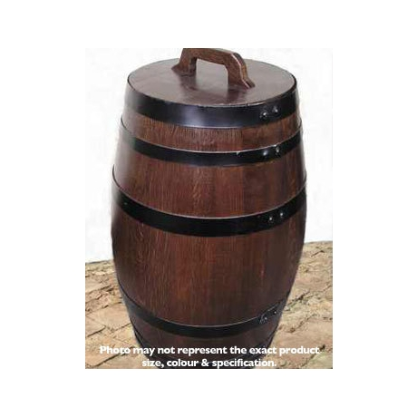 100Litre Oak Storage Barrel - Dark Stained