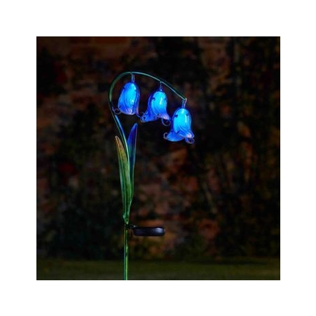 Solar Flowers Bluebell Stake Light - 2 pack