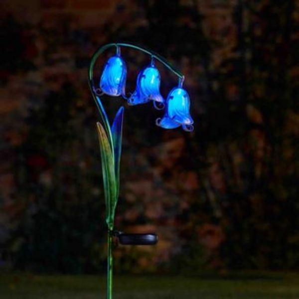 Barrel Amp Garden Solar Flowers Bluebell Stake Light 2 Pack