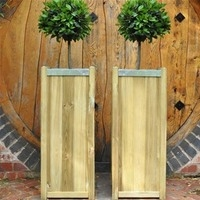 Slender Wooden Planter Large