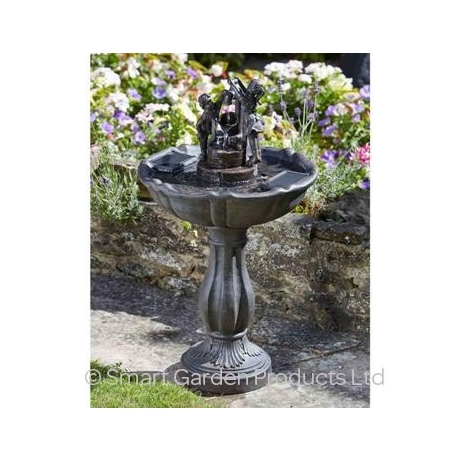 Tipping Pail Solar Fountain