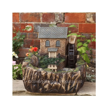 Water Mill Solar Fountain - With light