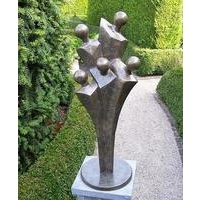 Five Man Abstract Bronze Sculpture
