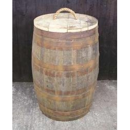 200 Litre Oak Barrel Waste Bin
