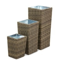 Maze Rattan - Winchester Tall Planter Set