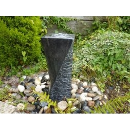 50cm Black Twisted Cascading Column Fountain