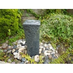 50cm Grey Twisted Cascading Column Fountain