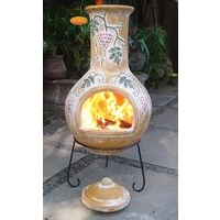 Gardeco Grapes Clay Mexican Chimenea - XL