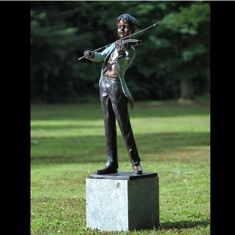 Young Violinist Bronze Statue