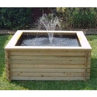 120 Gallon Square Log Pool & Pump