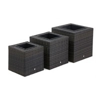 Maze Rattan - Square Planter Set