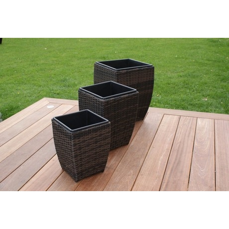 Maze Rattan - Shaped Planter Set of 3