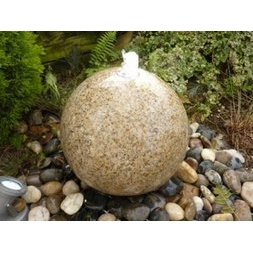 Beige Honed Sphere Fountain