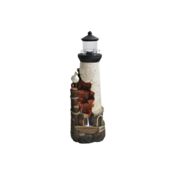 Rustic Lighthouse with LED lights