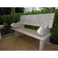 Hayworth Garden Bench - Pink Granite