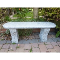 Acton Granite Garden Bench- Grey