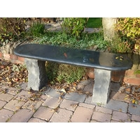 Acton Granite Garden Bench - Black