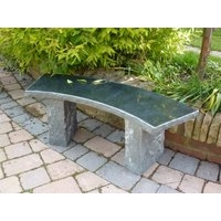 Balmoral Granite Garden Bench - Black