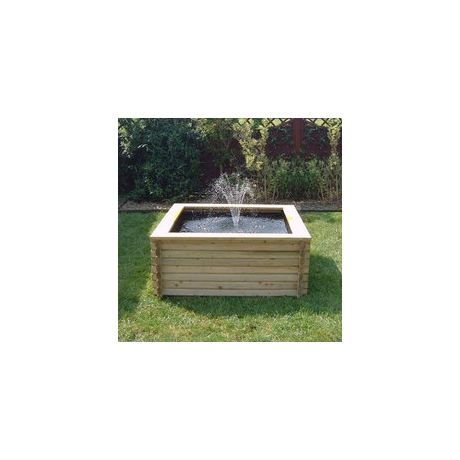60 Gallon Square Log Pool & Pump