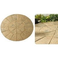 Minster Circle Paving Kit 1.8mtr Autumn Brown