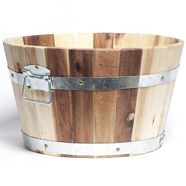 Barrel & Garden :: Acacia Hardwood Tub Planter - Rustic