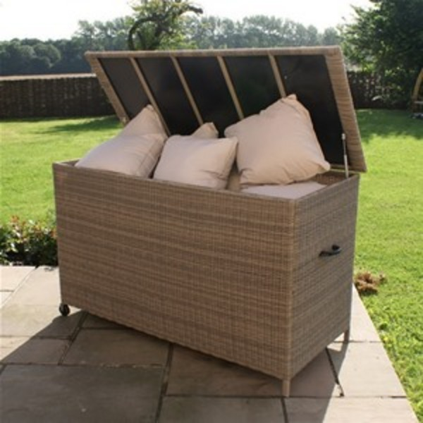 Genial Maze Rattan   Winchester Cushion Storage Box