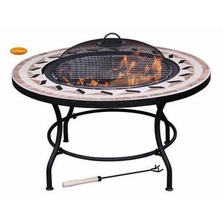 Gardeco Calenta Mosaic BBQ Fire Bowl - Optional - Ice Bucket - Lazy Susan -Table