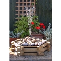 Log Pebble Fountain With Pump
