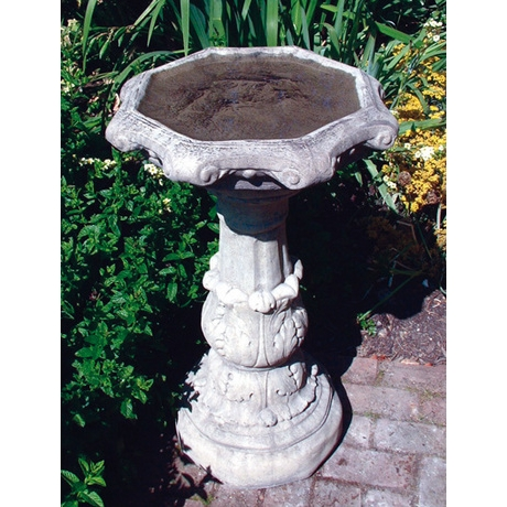 Classical Bird Bath Ornate Bowl - Cotswold Stone