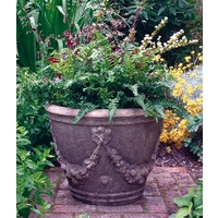 Large Swagged Urn - Cotswold Stone Planter