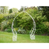 White Wash Metal Garden Arch - Shabby Chic