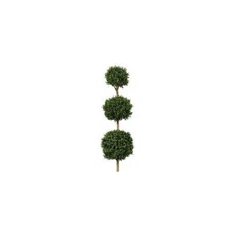 Artificial Topiary Boxwood Triple Ball Tree -140cm