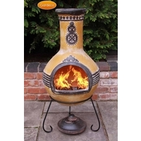 Azteca  Mexican Clay Chimenea - Large