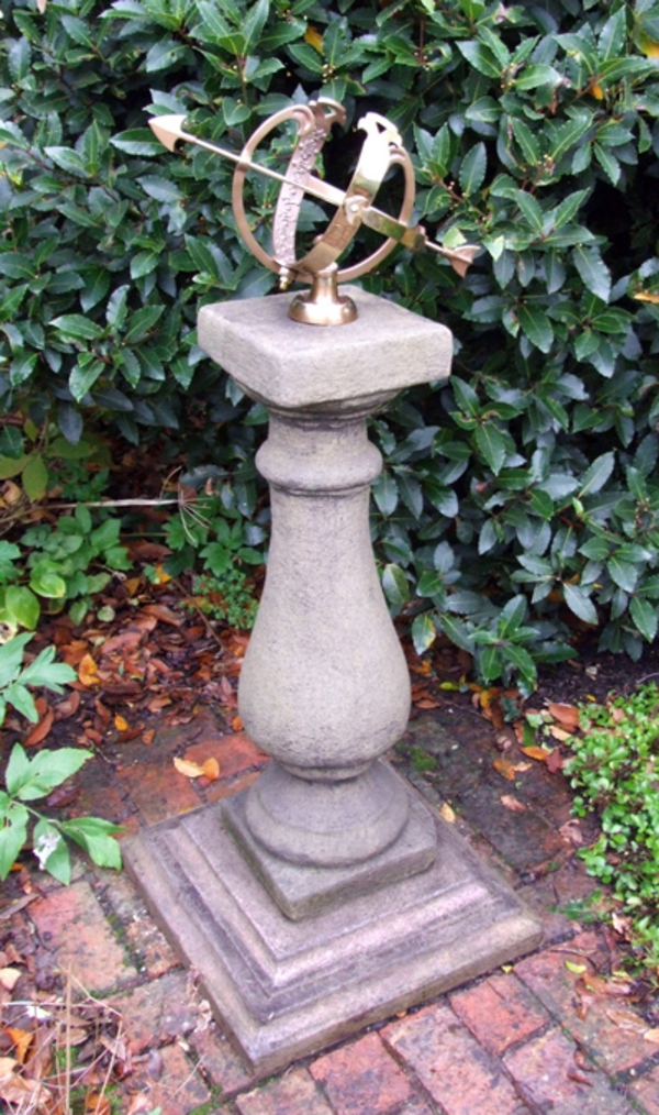 Baluster Medium Armillary Garden Sundial