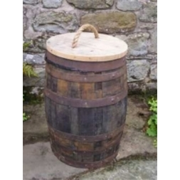 70 Litre Oak Barrel Waste Bin