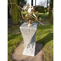 Black Limestone Sundial With Armillary - Small