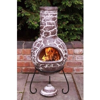 Cantera Brown Clay Mexican Chimenea - Large