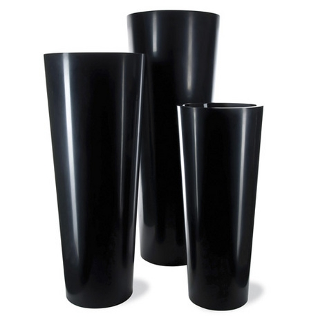 Geo Tapered Cone Planter - Black