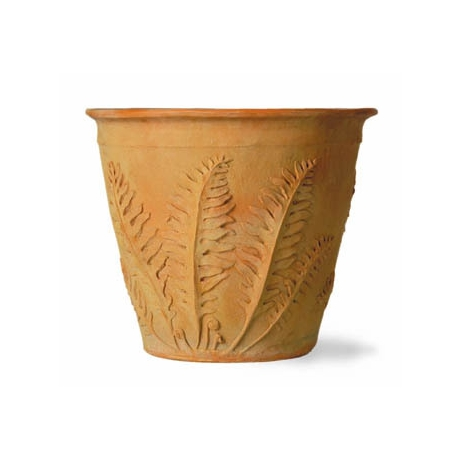 Fern Pot - Terracotta Finish