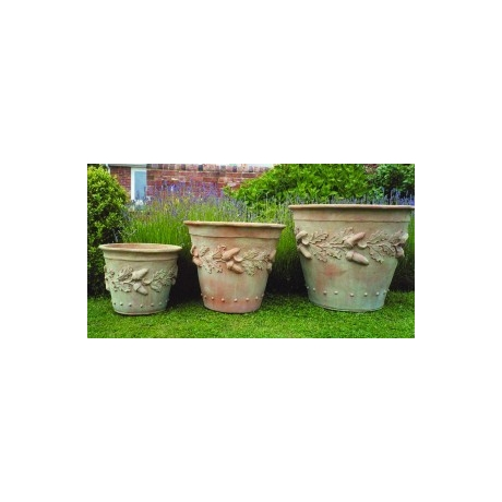 Oak Leaf Pot - Terracotta Finish