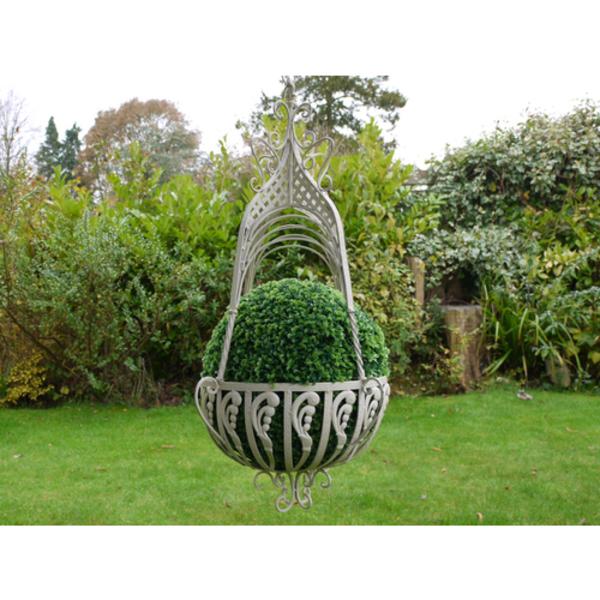 Wrought Iron Large Hanging Basket