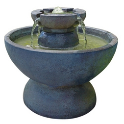 Tiered Copa Fountain with light