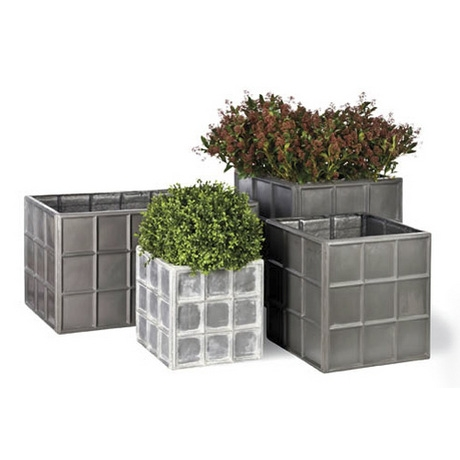 Downing Street Faux Lead Planters