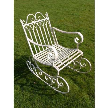 Garden Rocking Chair - Antique White