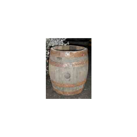 Firkin Barrel Planter - Strawberry Natural Finish