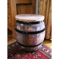 Firkin Barrel Stool - Rustic