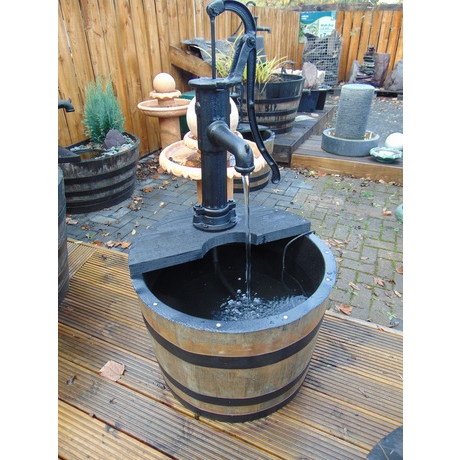 Fish Barrel Water Feature - Village Pump