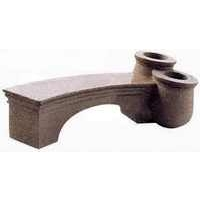 Florina Granite Bench With Planter - Beige