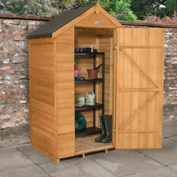 barrel garden 4x3 overlap apex garden shed dip treated